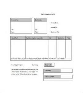 proforma invoice template 7 free sample example