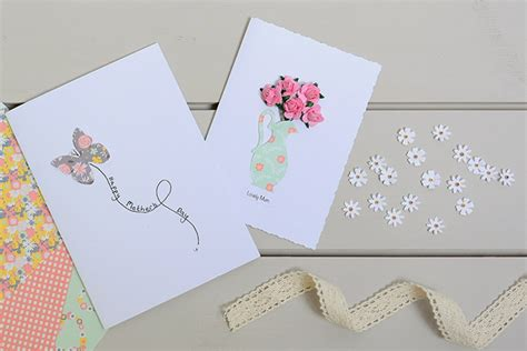 papercraft card ideas how to make a roses jug s day card hobbycraft
