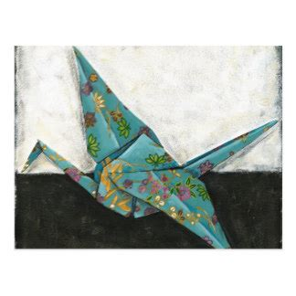 postcard origami origami crane postcards zazzle au