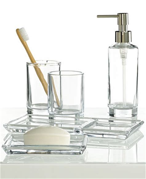 hotel collection bathroom accessories hotel collection glass soap dish only at macy s