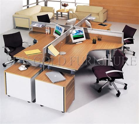 lay computer desk office workstation layout staff office work desk computer