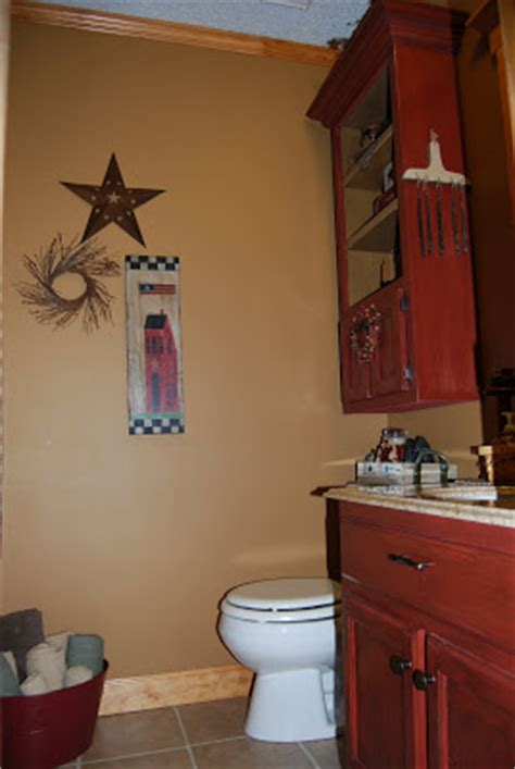 paint colors for rustic bathroom country at home our quot rustic prim quot bathroom lots of