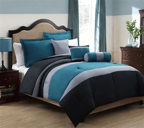 teal king size comforter sets vikingwaterford page 2 gray white and beige cotton