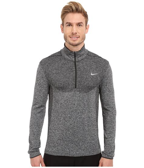 Nike Flex Knit 1 2 Zip Top In Gray For Save 35 Lyst