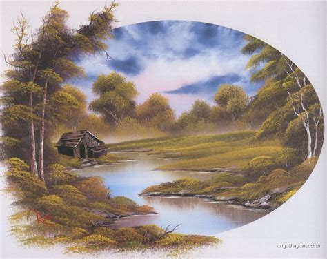 bob ross painting cabin bob ross paintings bob ross gallery bob ross artwork
