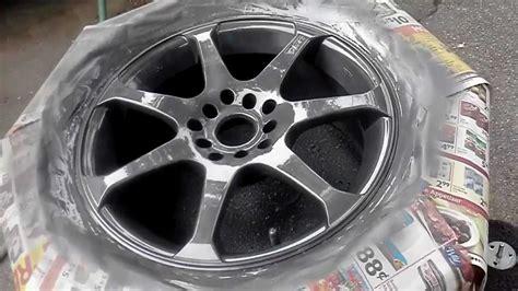 spray paint your rims black quot how to paint rims with rustoleum quot wheel paint part 2