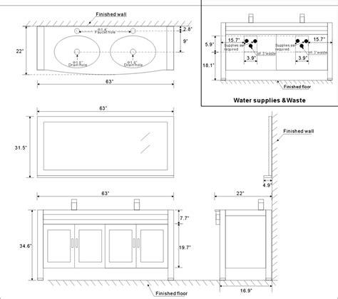 standard bathroom vanity dimensions 63 quot amerigo vanity 63inch contemporary vanity espresso