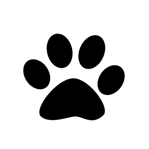 paw print free coloring pages of paw prints