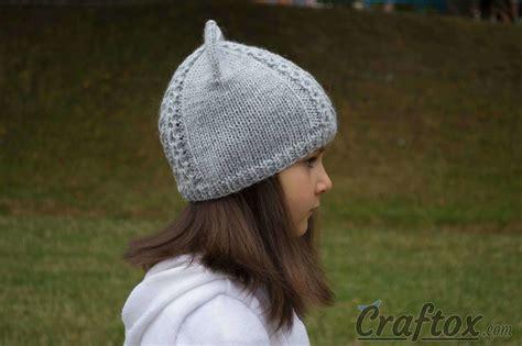 cat ear hat knitting pattern knit cat ear hat free pattern