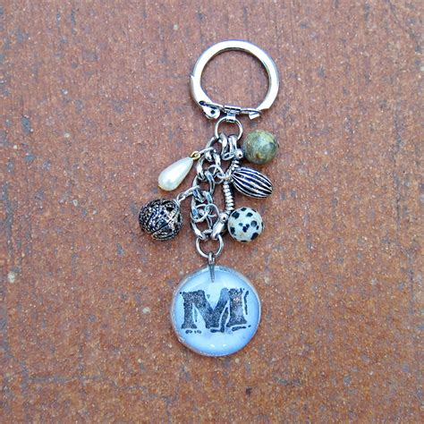 how to make a keychain with anthropologie inspired diy keychain