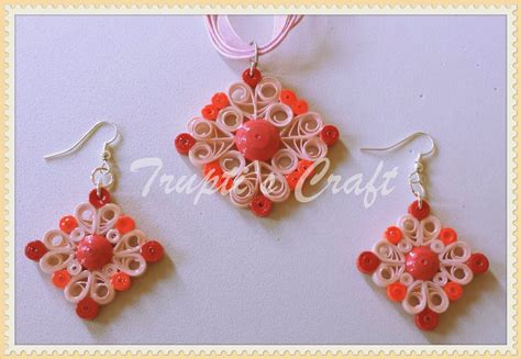 paper craft jewellery trupti s craft paper quilling jewelry set for team event