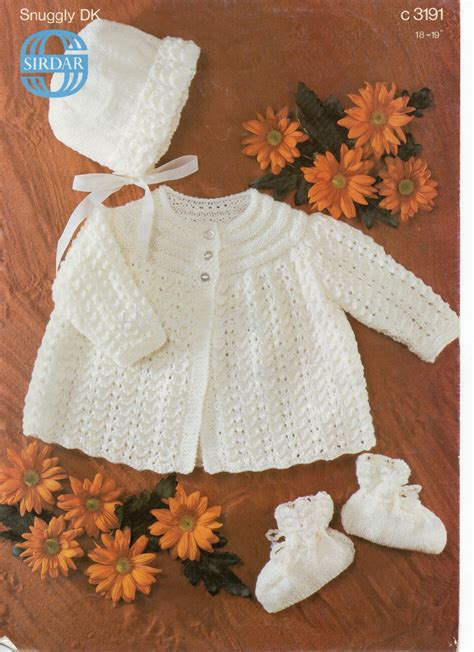 knitted coat patterns free uk baby knitting pattern baby matinee coat bonnet bootees baby