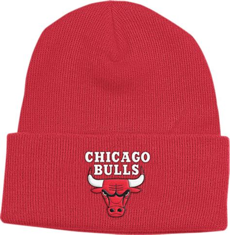 chicago bulls knit hat chicago bulls cuffed knit hat with embroidered logo