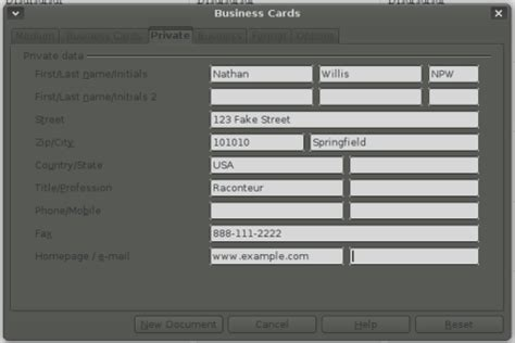 how to make business cards in openoffice how to make business cards in openoffice ehow