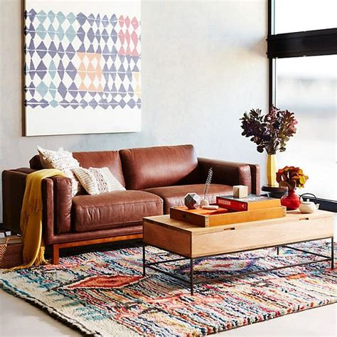 west elm leather sofa 25 best ideas about brown leather sofas on