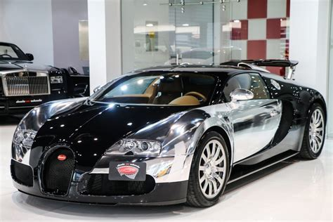 Bugati For Sale by Stunning Chrome And Black Bugatti Veyron For Sale Gtspirit