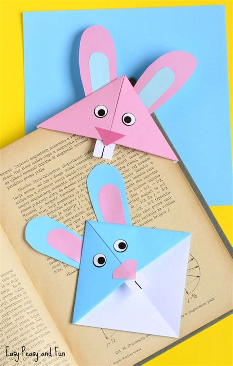bookmark crafts for easter bunny corner bookmark diy origami for easy