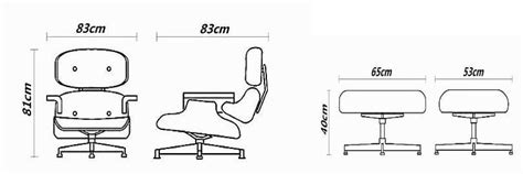 Eames Lounge Chair Dimensions by Endearing Eames Chair Dimensions With The Eames Chair And