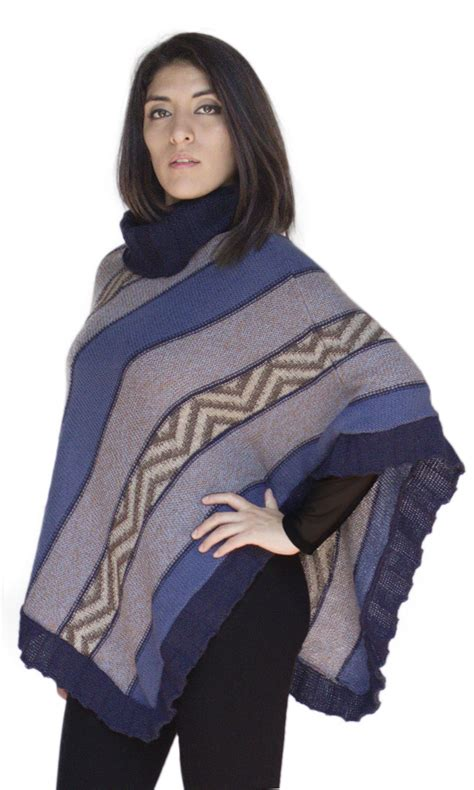 womens knit poncho s alpaca wool knit turtleneck poncho cape andes