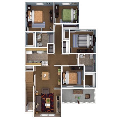 4 bedroom flat floor plan apartments in indianapolis floor plans