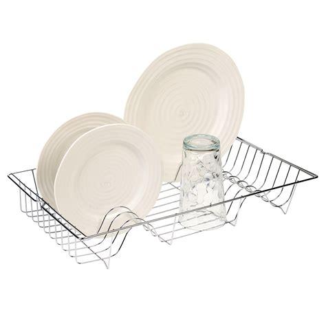 kitchen sink plate drainer metal chrome wire dish rack kitchen sink drainer washing