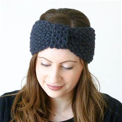how to knit headbands knitted turban knot headband by miss knit nat