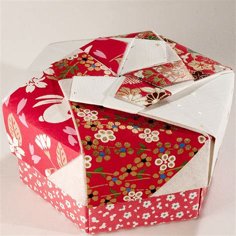 hexagonal origami gift box decorative hexagonal origami gift box with lid 07