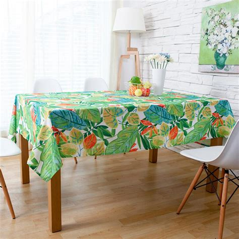 Dining Room Tablecloth countryside waterproof tablecloth fabric table cloth