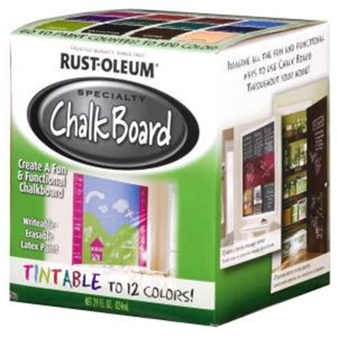 chalkboard paint at home depot rust oleum specialty 29 oz tintable chalkboard paint
