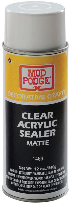 mod podge acrylic paint on canvas mod podge clear acrylic sealer spray matte 12oz can