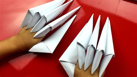 origami paper claw how to fold paper claws for hub