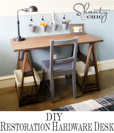 restoration hardware desk restoration hardware diy desk shanty 2 chic