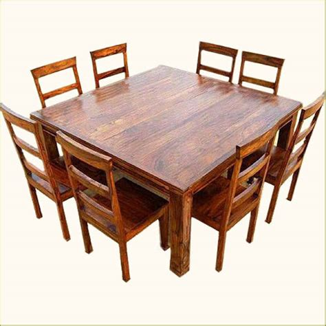 8 seat dining room table sets rustic 9 pc square dining room table for 8 person seat