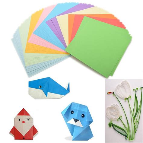 color craft paper 100pieces set diy color paper origami paper craft fold