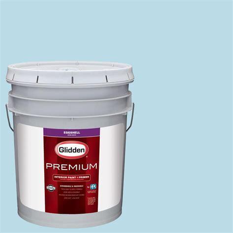 home depot paint primer glidden premium 5 gal hdgb45u siesta key blue eggshell