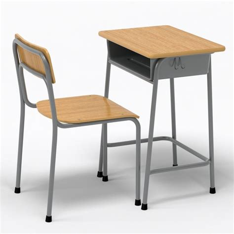 Desk And Chairs by School Desk And Chair 3d Model Cgtrader