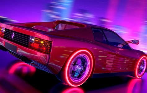 80s Car Wallpaper by Wallpaper Neon Background Electronic