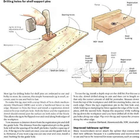 woodworking tips diy shelf pin jig woodarchivist