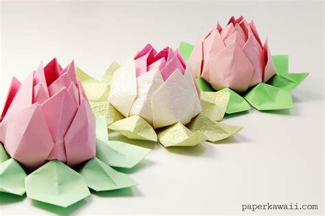 lotus flower origami modular origami lotus flower tutorial paper kawaii