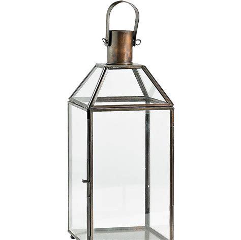 metal lantern metal hurricane lantern by bell blue