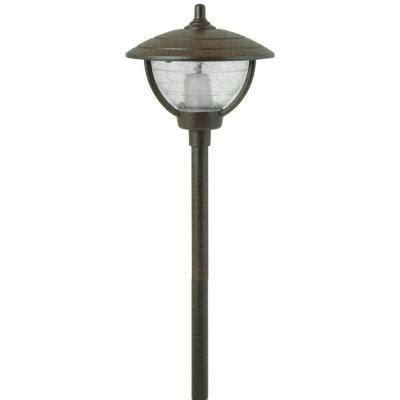 landscape lighting 12 volt moonrays 12 volt 10 watt auburn style bronze outdoor metal path light 95816 the home depot