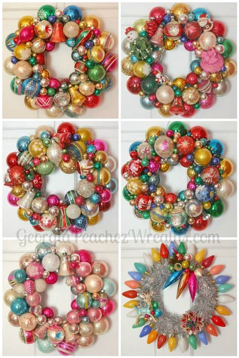 how to make vintage ornaments how to make a wreath out of vintage ornaments