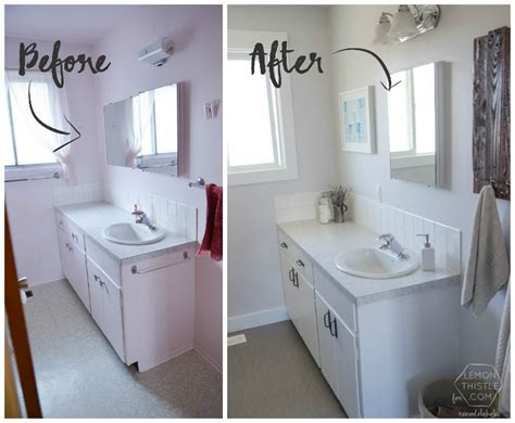 renovating a small house on a budget remodelaholic diy bathroom remodel on a budget and