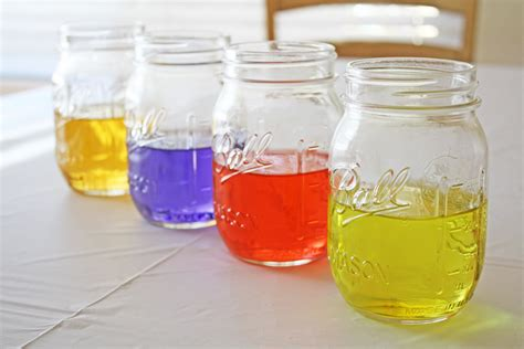 colored water colored water centerpiece diy catch my