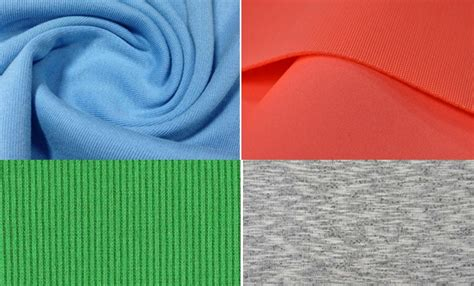 different kinds of knit fabrics list of fabrics used in knit garments manufacturing