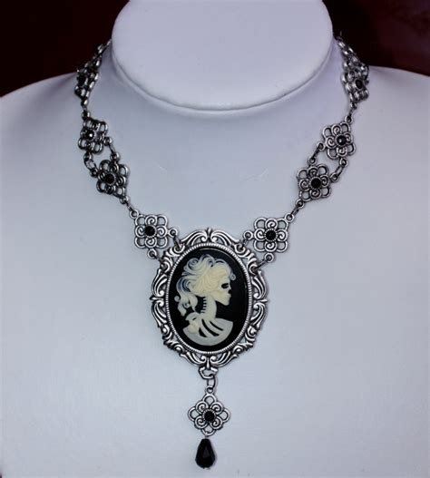 how to make cameo jewelry skull cameo necklace by pinkabsinthe on deviantart