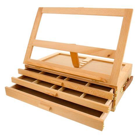 artist desk artist wood tabletop portable 3 drawer desk easel with 3