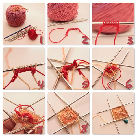 how to knit a knitting from the center out the c side