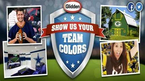 home depot paint nfl colors glidden nfl team colors show your nfl fan spirit