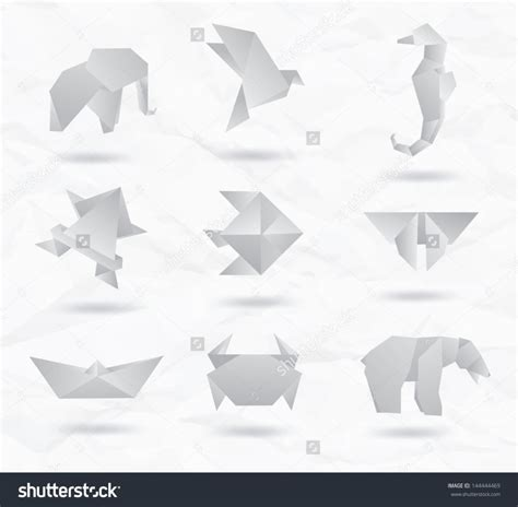 origami white paper free coloring pages set white origami animals symbols